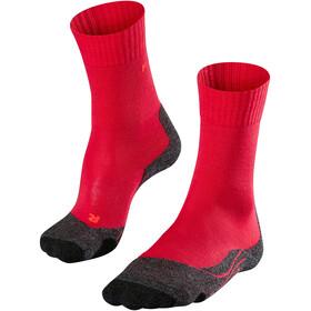 Falke TK2 Calcetines de Trekking Mujer, rojo/rosa